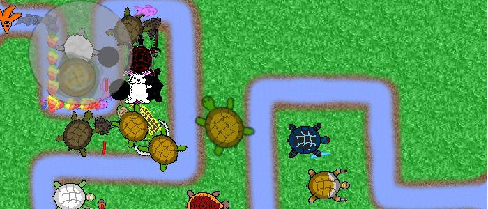 Screenshot of a round of Turtle Defense